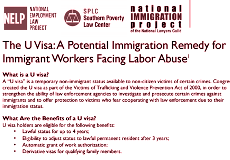 U Visa fact sheet
